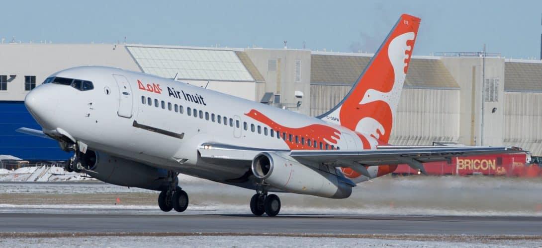 Air Inuit Boeing 737 200 departure