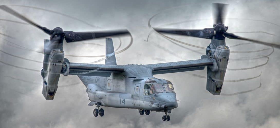 Bell Boeing V 22 Osprey at the 2012 Royal International Air Tattoo.