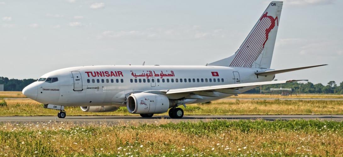 Boeing 737 600 Tunisair taxi