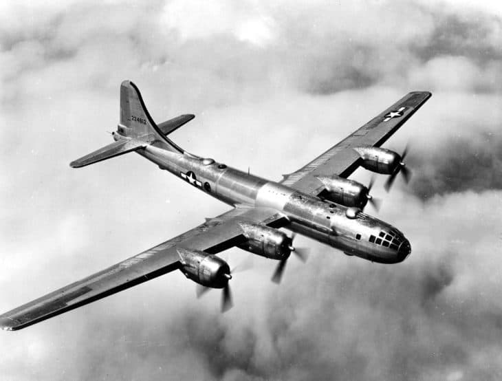 Boeing B 29 in flight.