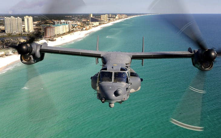 CV 22 Osprey aircraft from the 8th Special Operations Squadron.