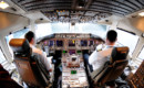 Continental Airlines Boeing 767 400ER flight deck.