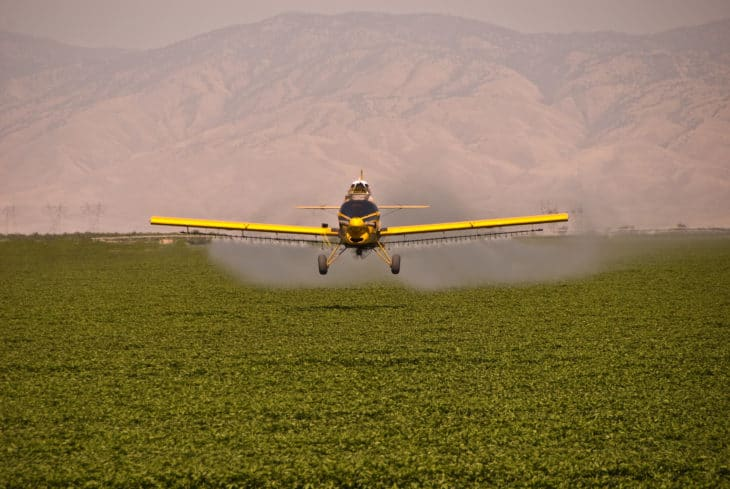 Crop duster in California
