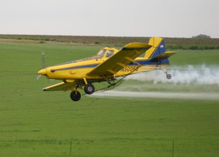 Crop duster or air tractor in North Central Washington