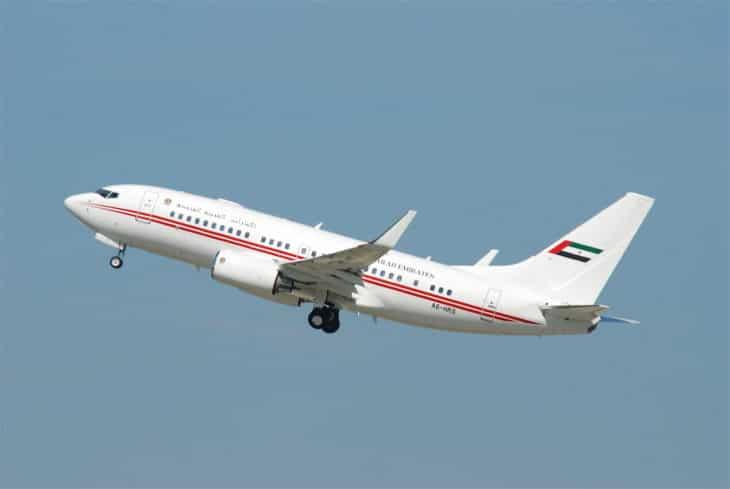 Dubai Air Wing Boeing 737 700 A6 HRS