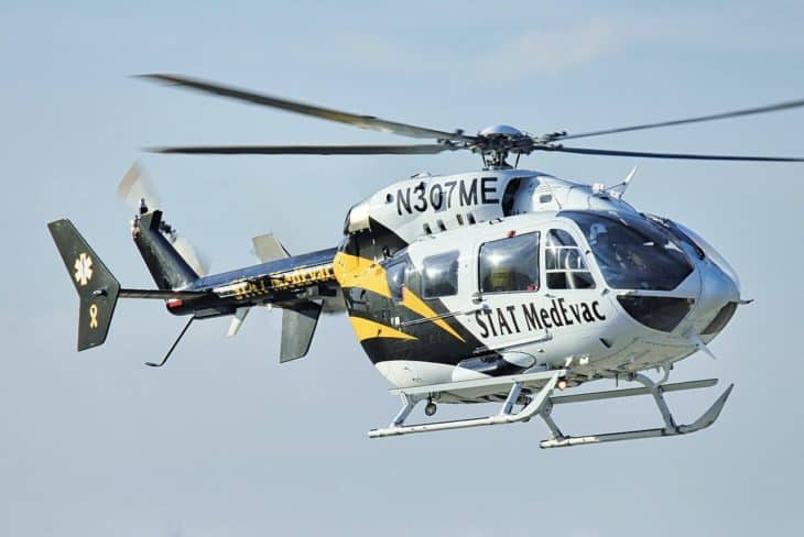 EC145 STAT MedEvac helicopter