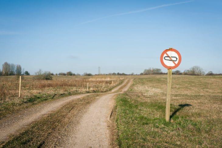 Forbidden for tanks sign