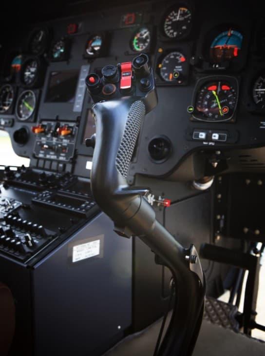 Helicopter cockpit joystick controller