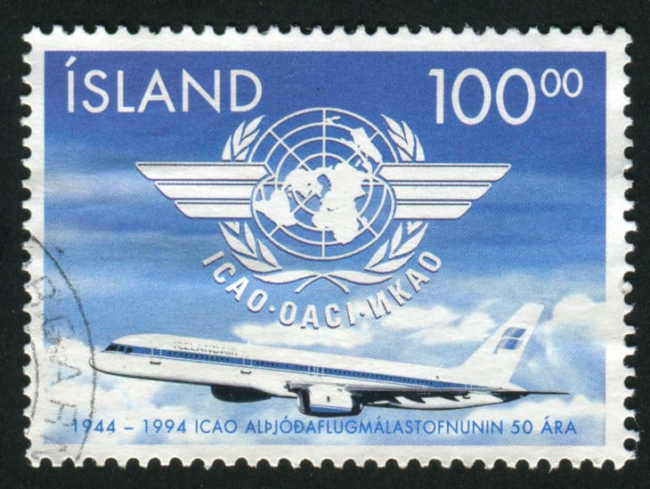 ICAO 50th Anniversary stamp