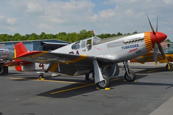 North American P 51C Mustang at Culpeper airport Virginia