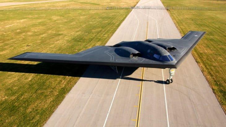 Northrop Grumman B 2 Spirit on runway