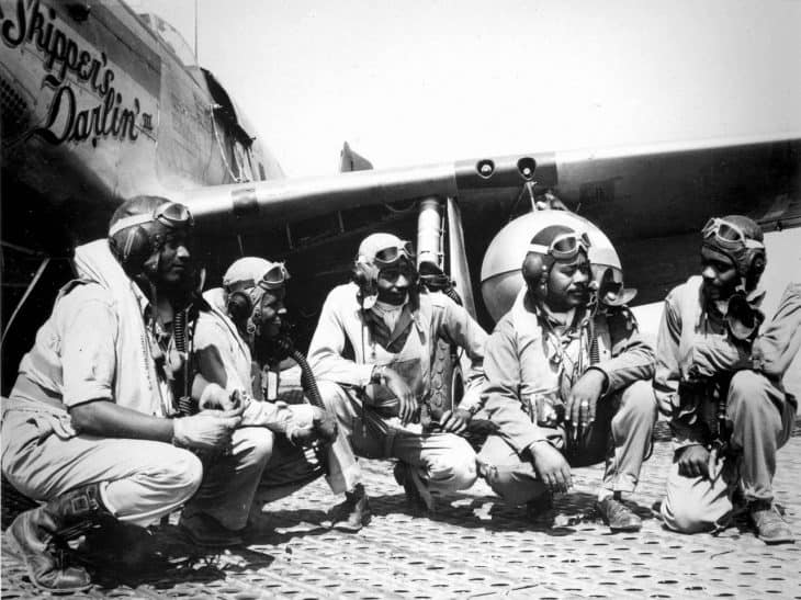 Pilots of the 332nd Fighter Group at Ramitelli Italy