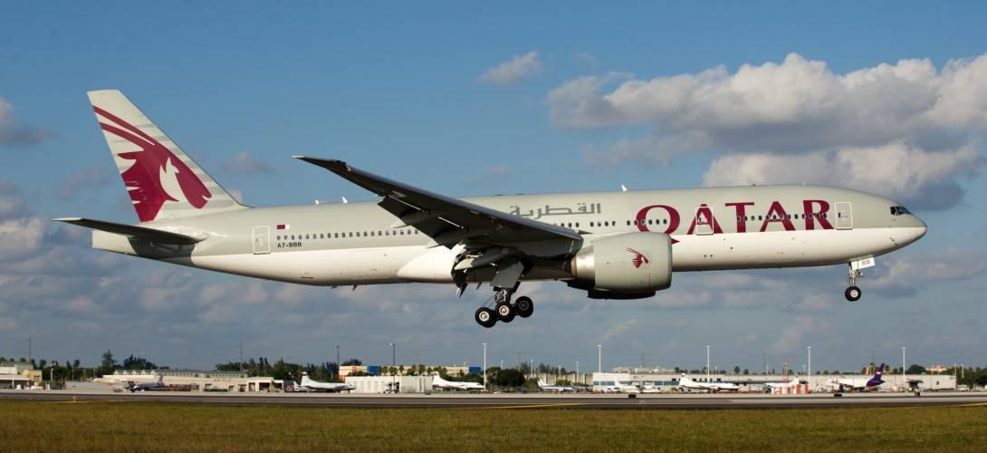 Qatar القطرية Boeing 777 200LR