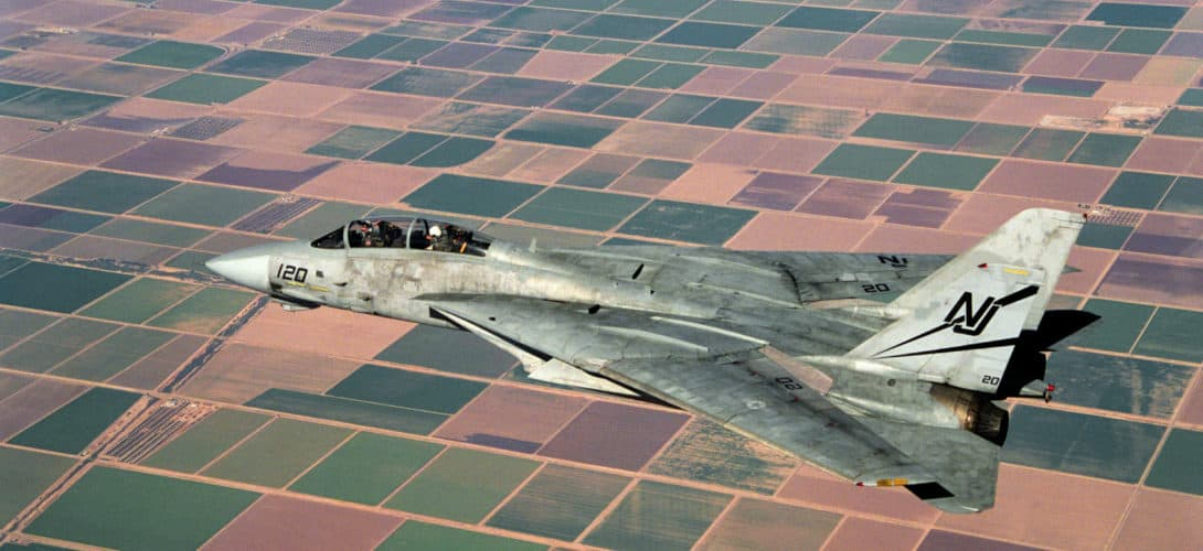 US Navy F 14A Tomcat of Fighter Squadron 124 VF 124.