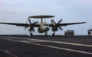 An E 2C Hawkeye assigned to the Seahawks of VAW 126