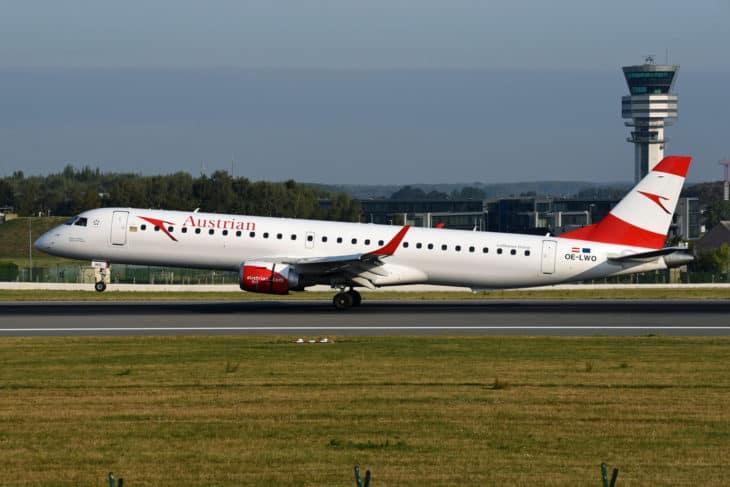 Austrian Airlines Embraer ERJ 195 200LR OE LWO