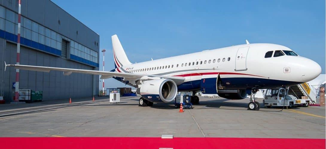 Mjet Airbus ACJ319 OE LJG