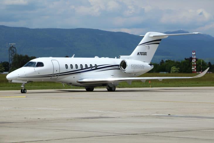 Textron Cessna 700 Citation Longitude N703DL.