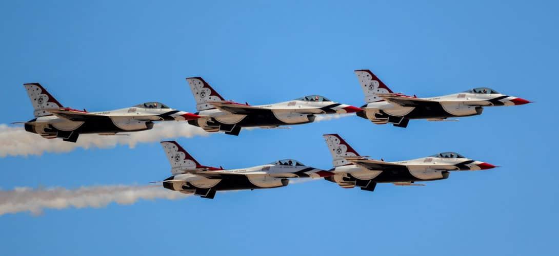 Thunderbirds at Nellis AFB Las Vegas
