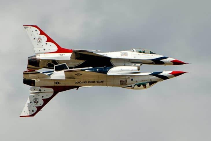 Two F16 Thunderbirds at RIAT 2017
