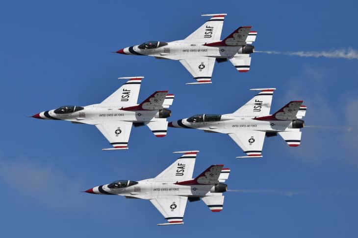 USAF Thunderbirds at the 2019 Wings over Houston