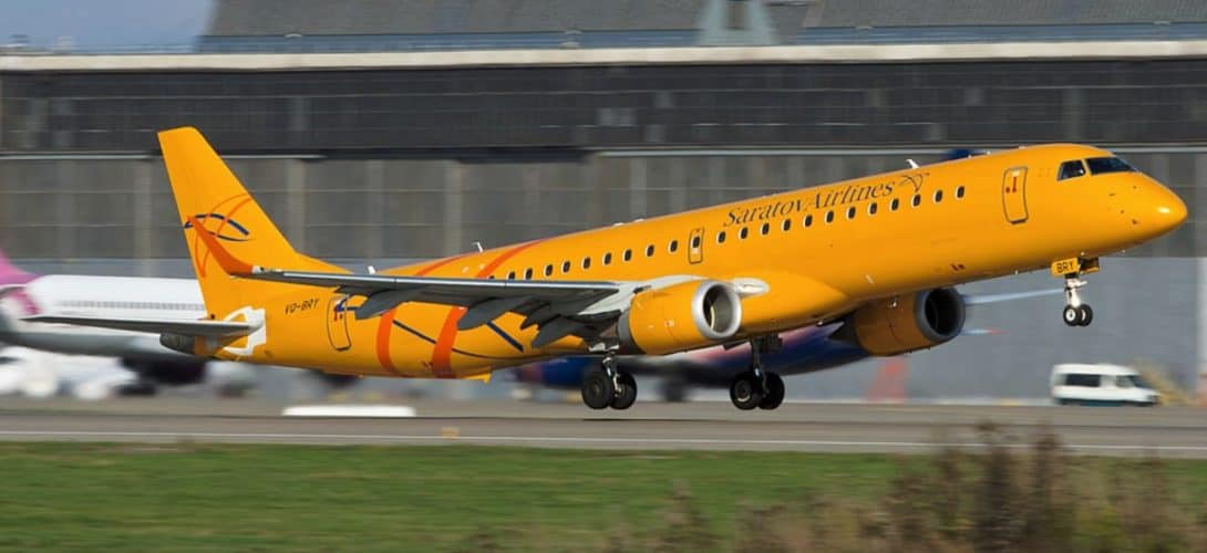 VQ BRY Saratov Airlines Embraer 195AR