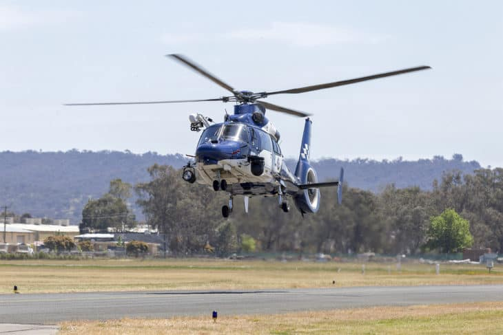Victoria Police operated by CHC Helicopter VH PVD Eurocopter AS365 Dauphin.