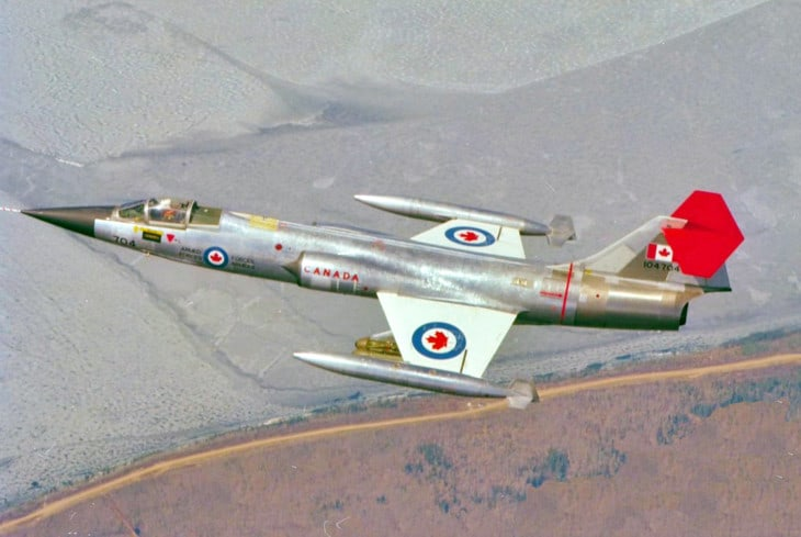 A RCAF CF 104 Starfighter