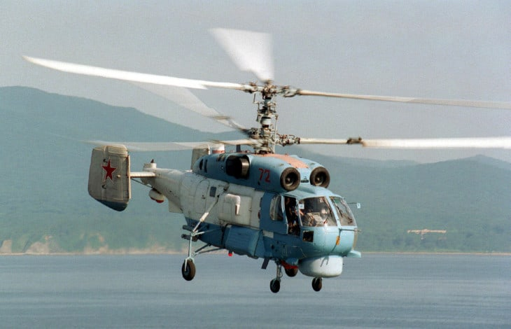 A Russian KA 27PS helicopter.