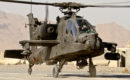 A U.S Army Boeing AH 64D Apache Helicopter