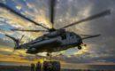 A U.S. Marine Corps CH 53E Super Stallion helicopter