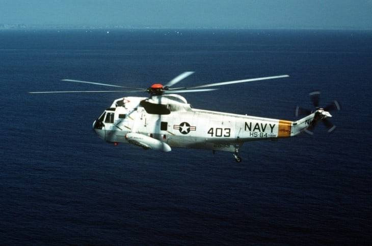 A U.S. Navy Sikorsky SH 3D Sea King of HS 84 in flight