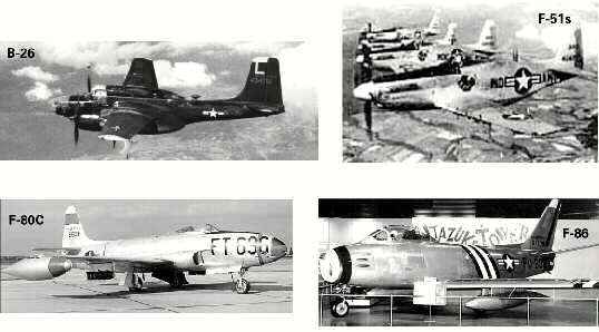 Aircraft of the Korean War Medal of Honor recipients