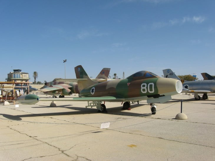 Dassault Ouragan in the Israeli Air Force Museum