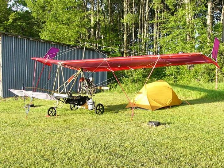 Fly camping with a DFE Ascender III C two seater