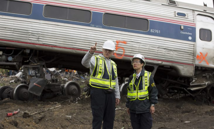 NTSB investigating a 2015 Amtrak railroad crash