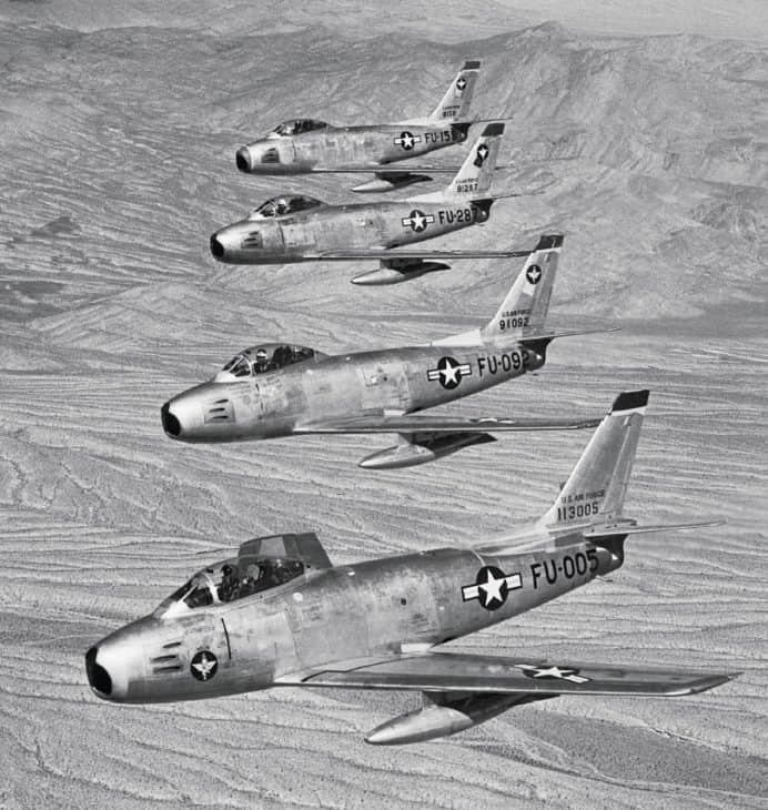 North American Aviations F 86A and E Sabres