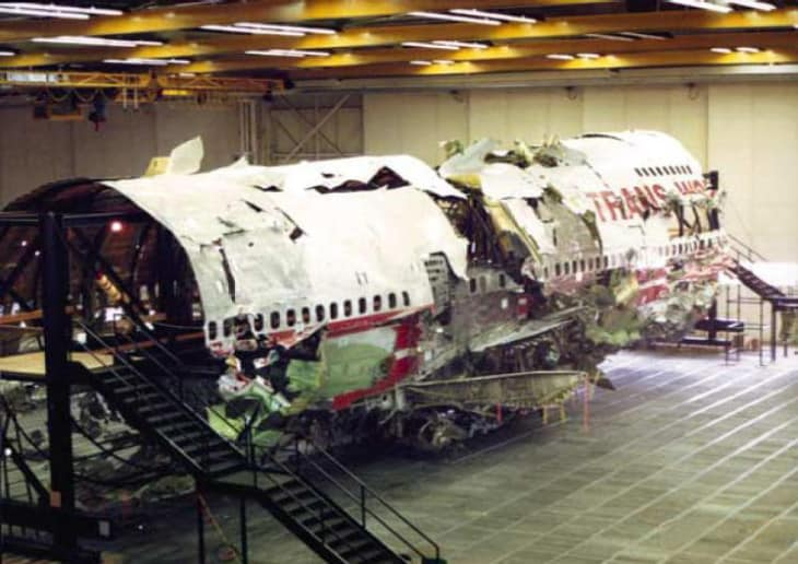 TWA800 fuselage reconstruction