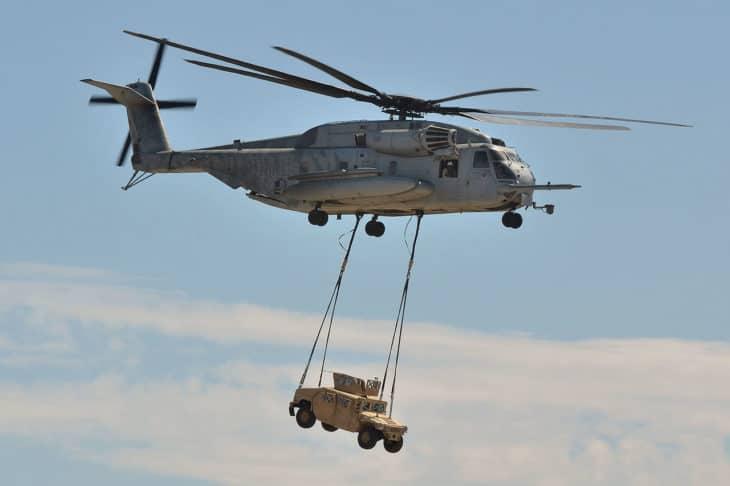 USMC Sikorsky CH 53E Super Stallion.