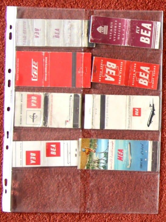 British Airline advertising match books 1