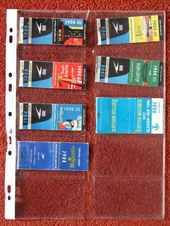 British Airline advertising match books 2