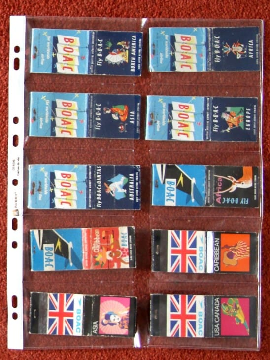 British Airline advertising match books 3