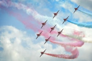 Colour on RAF Red Arrows
