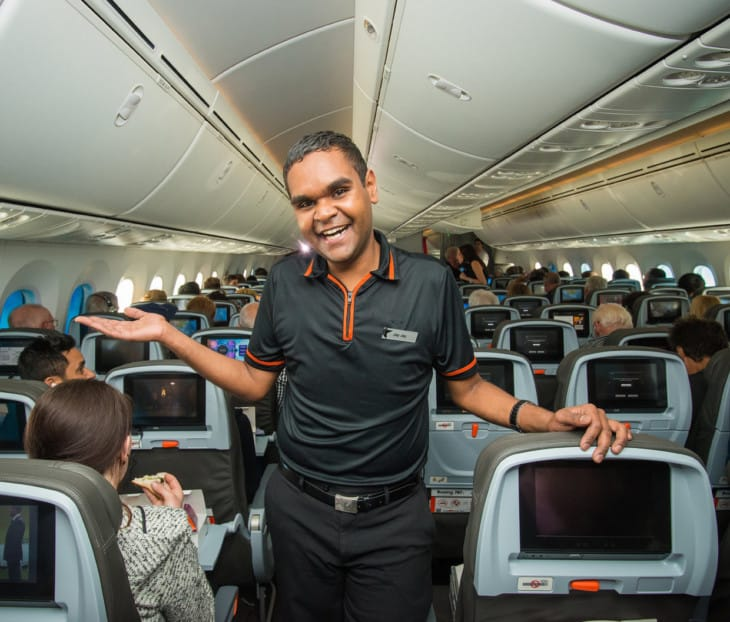 Inside the spacious 787 Dreamliner cabin