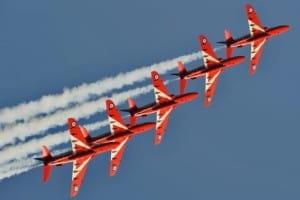 Line astern RAF Red Arrows