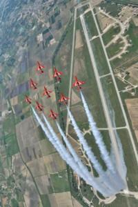 Looping RAF Red Arrows