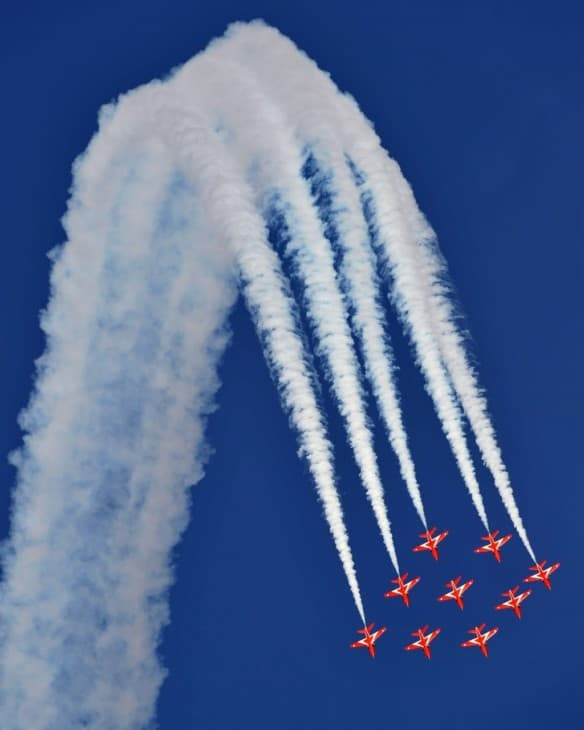 Over The Top RAF Red Arrows