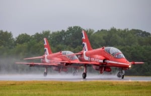 Red Arrows visiting RAF Brize Norton as they transit to conduct a flypast over London