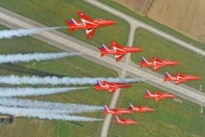 Rolling Left RAF Red Arrows