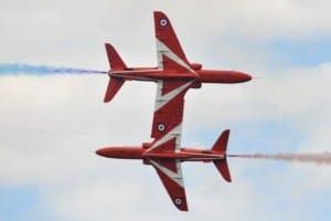 Synchronised RAF Red Arrows
